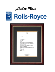 letter from rolls royce