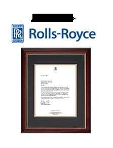 letter from rolls royce